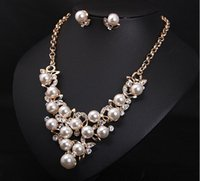 Wholesale Bridal Jewelry Set Wedding Jewelry Set Bridal Necklace and Earrings Set Pearl Bridesmaid Jewelry Set Bridal Party Jewelry Set