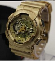 Wholesale Sports Watch relogio masc Fashion ga100 New LED watch ga digital watches jelly silicone wristwatch LED g100 watch