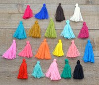 Wholesale cord tassel cm long bag cotton tessel multi color laciness for Handmade materials accesory
