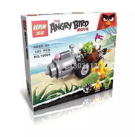 Wholesale LEPIN Toys Legoelieds angry bird Minifigures little bird and green pig game movie block with fun for kids birthday gift