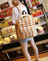 Wholesale HOT EMOJI backpack QQ face smiling expression pattern backpack bag Expression School bag preppy style sport woman mochila Free Ship