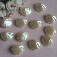 Wholesale Two style of beads Shell Shallow water droplets Straight hole imitation pearl Good quality low prices is trustworthy