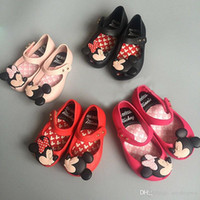 baby minnie birthday - Hot Minnie Mickey Mouse Melissa Children s Girls Summer Sandals Jelly Princess PVC Soft Bottom baby Buckle Shoes Birthday Gift