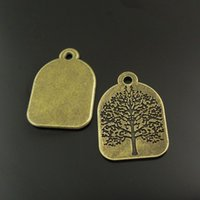 antique prints lots - 10PCS Antique Bronze Tree Print Alloy Pendant Charms Jewelry Finding mm AU37979 jewelry making