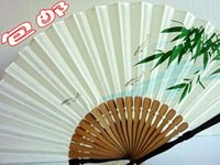 antique japanese paintings - Antique fan Japanese male cotton and linen material folding fan and wind fan ink painting Chinese fan children much money