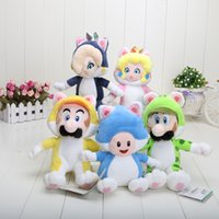 baby peach games - Super Mario D world quot cm Cat Series doll Mario Luigi Toad Princess Peach Rosalina Stuffed Plush Toy Baby Toys