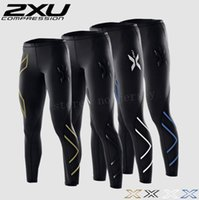 Wholesale Men XU Compression Fitness Tights Pants Superelastic Stretch Jogging Pants Breathable Outdoor Sports Trousers High Elastic Sweat Wears