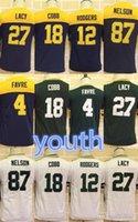 aaron boy - Kid Youth jerseys Aaron Rodgers Eddie Lacy Clay Matthews Jordy Nelson Stitched Packers Jerseys discount football jerseys
