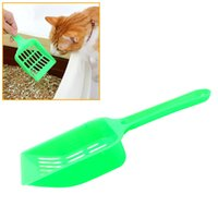 Wholesale Retail Plastic Material Cat Litter Scoop Portable Kitten Cleaning Shovel Dog Pet Poop Scoop Supplies for Animals Wastes JJ0074