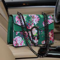 Wholesale 2016 Womens Ladies Handbags Fashion PU Leather Chain Flowers Snakehead Hasp Triangle Handbag Flap Shoulder Bag Messenger Bags B6636