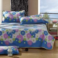 Wholesale 2016 New Linen Flat sheet Summer Sleeping Mat Bed Sheet Daisy Printing Folding Bed mat for Summer Home Textile Adults Kids Gift