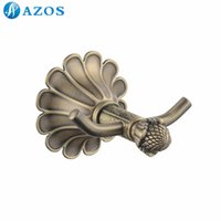 antique shower hardware - AZOS Wall Mounted Bath Towel Hooks Nickel Brush Finish Antique Brass Color Toilet Accessories Bathroom Shower Hardware Components GJQC2302D