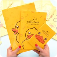 accounting learning - South Korea creative stationery cute little yellow duck child learning notebook car line notepad student diary L4042