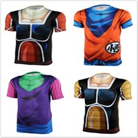 animations toppings - New men women animation D tight short sleeve T shirt Classic Anime Dragon Ball Z Super Saiyan d t shirt tops