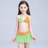 Wholesale Girl Swim Wear One Piece Wwimsuit With Polka Dots Princess Ruffle Costume Children s Swimwear for the Pool Bathing Suit Kids