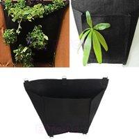 Wholesale Black D Shape Fabric Pots Plant Pouch Round Aeration Pot Container Grow Bag Y102