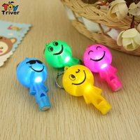 activity game outdoor - Triver led light flashing smile whistle luminous toys gift for Festival Party Nightclub KTV Outdoor activities Concert Ball game