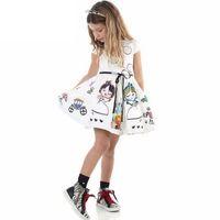 Wholesale Baby Girl Dress Summer Princess Dress Children Clothing Girl Dress Cartoon Print Kids Clothing Dresses for Girls Clothes Kids Y