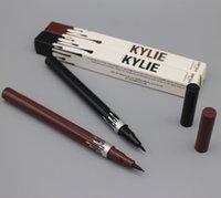 Wholesale New Kylie Long Lasting Eyeliner Waterproof Black Brown Eye Liner Kylie Pencil Eyeliner Makeup tool by Kylie Jenner Cosmetics DHL free ship