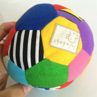 Wholesale Baby Toys Multicolour Sensory Ball Infant Toy Baby Rattles Grasping Balls Soft Cloth Jingle Ball Growth Plush Toy Birthday Gift