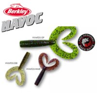 berkley baits - Berkley Brand Havoc Series The Deuce HVMTD3 cm Doule Tail Worm Bait Soft Artificial Fishing Lure for Bass Rock Fishing p bag