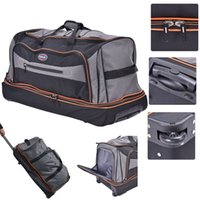 Wholesale 30 quot Drop Bottom Rolling Wheeled Duffel Bag Carry On Luggage Travel Suitcase