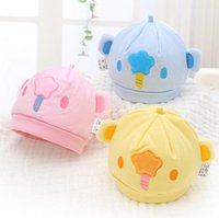 baby head circumference - Three Colors Newborn Baby Cotton Caps Head Circumference cm Hats Suitable for months Kids In Autumn Winter