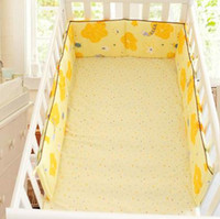 Wholesale Colors Four Seasons Cotton Prints One piece Baby Bed Bumper Breathable Cozy Crib Bumpers Baby Bedding
