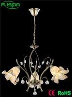 Wholesale European iron holder White Chandelier Glass Lamp Shade Chandelier Flower shade Light chandelier lighting modern moooi heracleum susp
