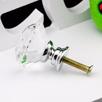 glass cabinet knobs - 20 mm Diamond Shape Crystal Glass Cabinet Handle Cupboard Drawer Knob Pull TK0636
