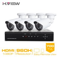 Wholesale 4CH CCTV System H CCTV DVR HDMI TVL IR Weatherproof Outdoor Security Camera Home Security System Surveillance Kits
