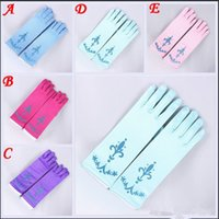 Wholesale 5 Color Extra Long Blu Elsa Princess cosplay Gloves baby girl party princess Gloves