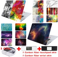 air brain - Case For Macbook Pro Retina Air Case Matte Oil Printing Cover Left Right Brain Marble Wood laptop Shell Bag