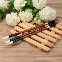 Wholesale 3pcs set Excellent Quality Chinese Calligraphy Brushes Pen for Woolen and Weasel Hair Writing Brush Fit For Student School