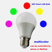 app bar - Smart Bulb Wireless Bluetooth Audio Speakers LED RGB Light Music Bulb Lamp Color Changing via WiFi App Control phone WeChat LED Neon Sign