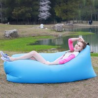 Wholesale Inflatable Outdoor Pads Mattress Camping Hiking Fast Foldable Inflatabl Air Lazy Sleeping Sofa Bed Travel Hangout Beach Sleeping Bag