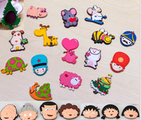 Wholesale Colorful Cartoon D Animal Stickers for Decoration Fridge Magnets And Furniture PVC Soft Magnetic Refrigerator Sticker Home Supplies