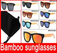 amber products - Bamboo sunglasses Retro wooden Sunglasses wooden glasses for man women excellent products fashion eyewear New