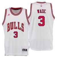 wade - 3 Dwyane Wade jersey Men Chicago Jerseys Rev Swingman Embroidery Logo Red Black White Stitched Basketball Jerseys