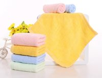 bamboo nurseries - Charcoal bamboo fiber towel can be embroidered towel children infant baby bibs nursery handkerchiefs dishwashing kitchen scouring pad
