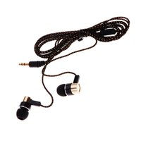 Wholesale 2Pcs Noise Isolating Reflective Fiber Cloth Line mm Earbuds Stereo In ear Earphone Headphone Headset