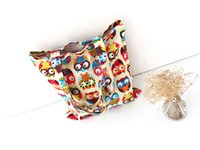 Wholesale Cotton Canvas Shopping Tote Shoulder Carrying Bag Eco Reusable Bag Print Colorful Owls without Lining NEW
