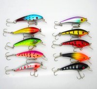 Wholesale 10Pcs Fishing Lure Deep Swim Hard Bait Fish Artificial Baits Minnow Fishing Wobbler Fishing Tackle