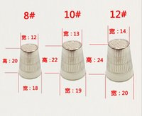 Wholesale Quality of good export thick alloy silver thimble hat