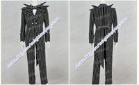 Wholesale The Nightmare Before Christmas Cosplay Jack Skellington Costume Stripe Suit