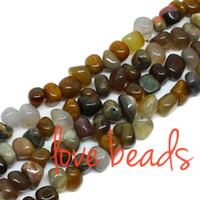 beautiful chip - Beautiful Smooth Stone mm Gravel Natural Loose Beads Chips Stone Beads Strand quot Women Diy Bracelet F00294