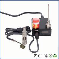 Wholesale 2016 Portable E nail enail electric nail V v w mm mm mm coil heater enail with titanium nail and dabber