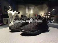 Wholesale Sports Footwear Brands - Fashion Brand Mens 350 Boost Pirate Black Running Shoes Footwear Sneakers Kanye West 350 Boost milan Sport Sneakers