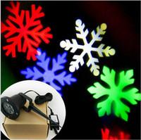 Wholesale 2016 new arrivals Christmas RGB led effect light IP65 waterproof showers laser snowflake projectors Landscape effect Show Projector lights
