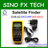 Wholesale Cheapest DVB S2 satellite finder inch LCD original SATLINK WS satlink finder satfinder meter signal meter ws6933